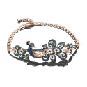 Браслет из золота с цветными фианитами, ювелирный завод ПЛАТИНА