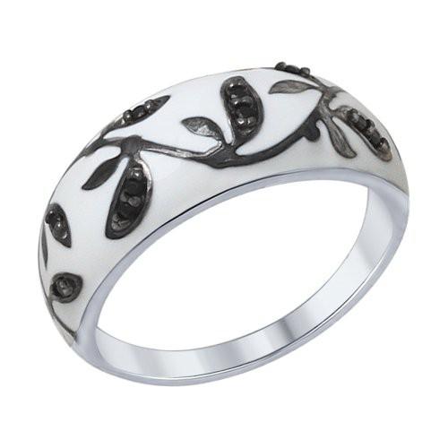 Кольцо 94012307 SOKOLOV из серебра с эмалью