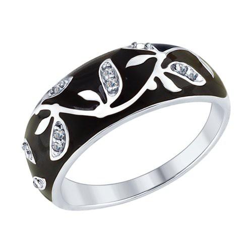 Кольцо 94012594 SOKOLOV из серебра с эмалью