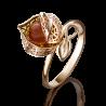 Кольцо 01-5074-00-271-1110-46 из золота с янтарем, ювелирный завод ПЛАТИНА