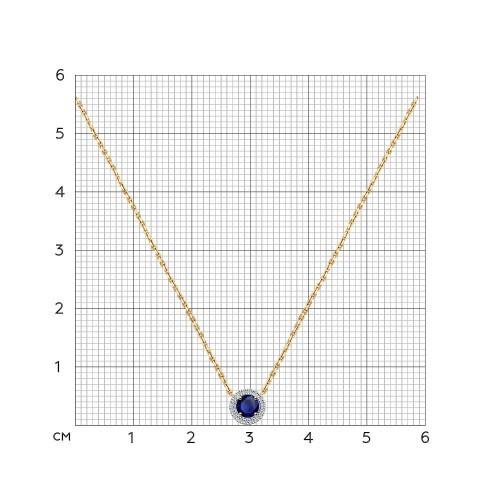 Колье 2070008 SOKOLOV с сапфиром и бриллиантами