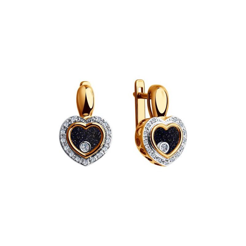 Серьги 1021169 SOKOLOV с бриллиантом