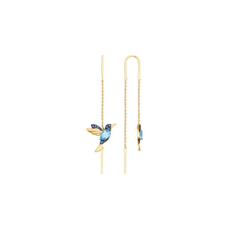 Серьги 725373 SOKOLOV из золота с топазами