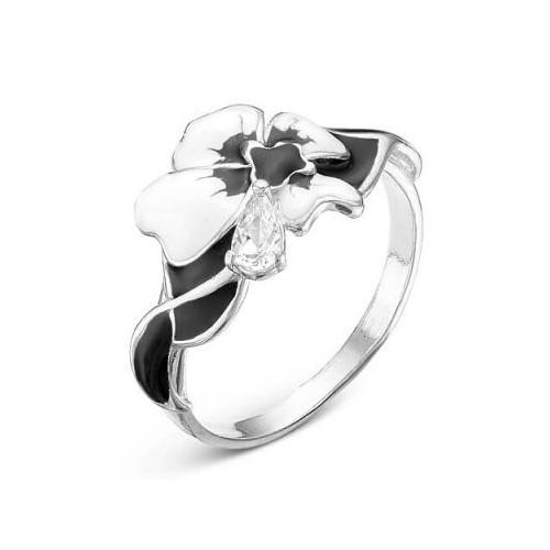Кольцо из серебра с эмалью и фианитом 2388202Д КРАСНАЯ ПРЕСНЯ