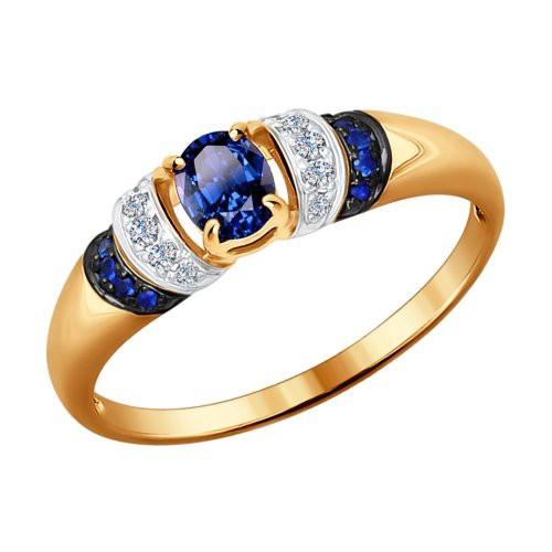 Кольцо 2011049 из золота с сапфиром SOKOLOV