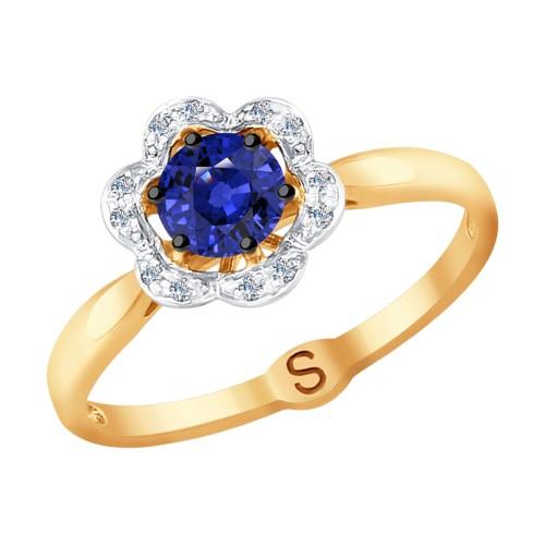 Кольцо 2011080 из золота с сапфиром SOKOLOV