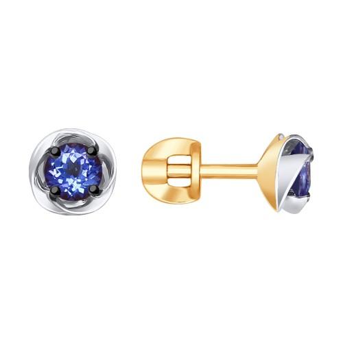 Серьги 6024087 SOKOLOV с танзанитом и бриллиантами