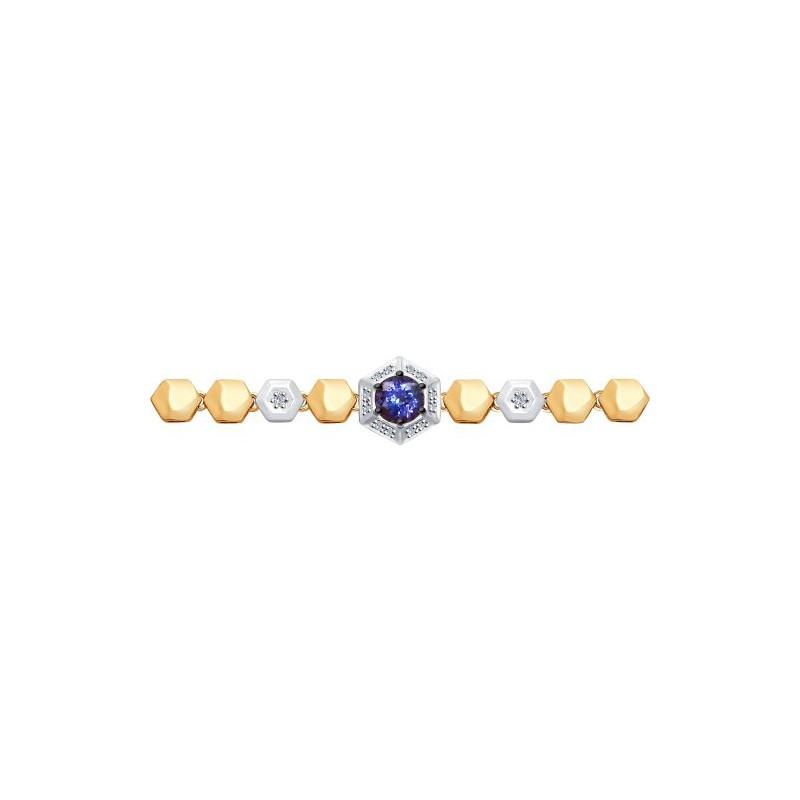 Браслет 6054003 SOKOLOV с танзанитом и бриллиантами