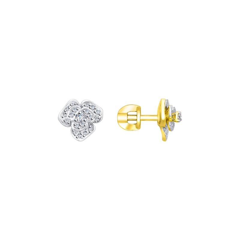 Серьги-пусеты 1021191-2 SOKOLOV из золота с бриллиантами