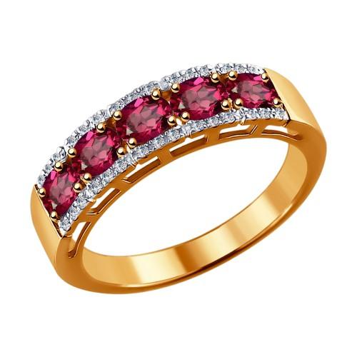 Кольцо 4010605 с рубином из золота от SOKOLOV