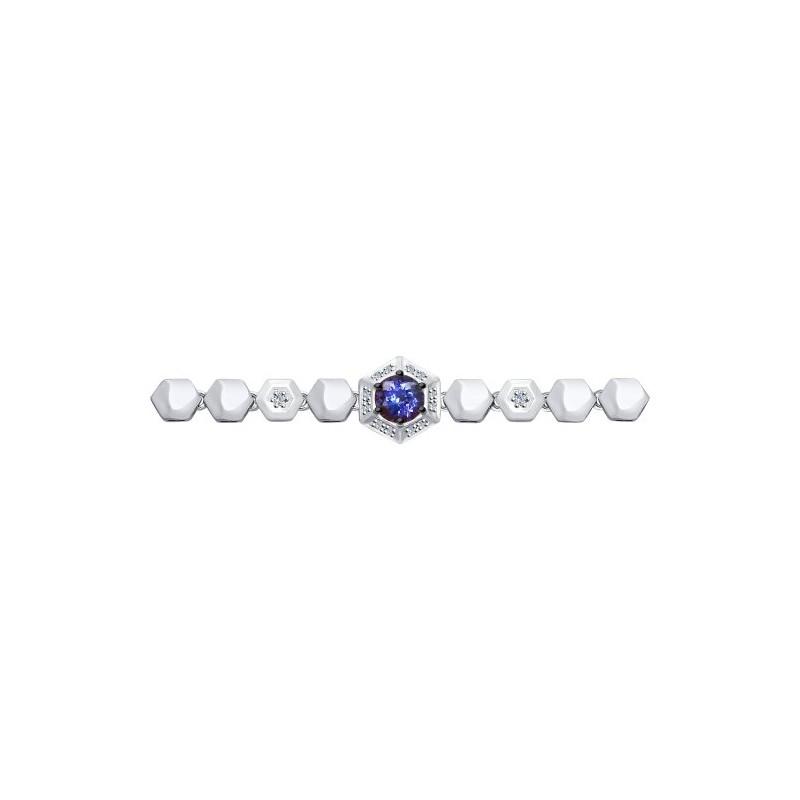 Браслет 6054004 SOKOLOV с танзанитом и бриллиантами