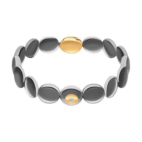 Браслет 6055008 SOKOLOV из керамики с золотом и бриллиантом