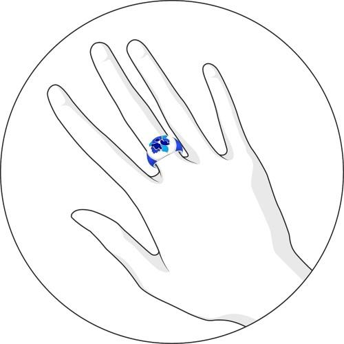 94011116 Кольцо SOKOLOV из серебра с эмалью