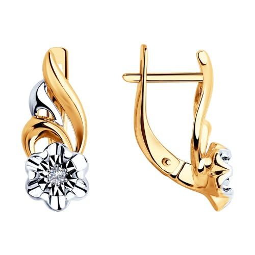 Серьги 51-220-00021-1 с бриллиантами DIAMANT