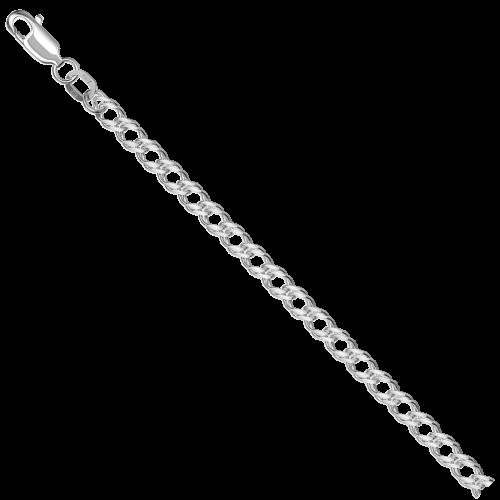 Цепь из серебра НЦ 22-076 с алмазной гранью КРАСЦВЕТМЕТ