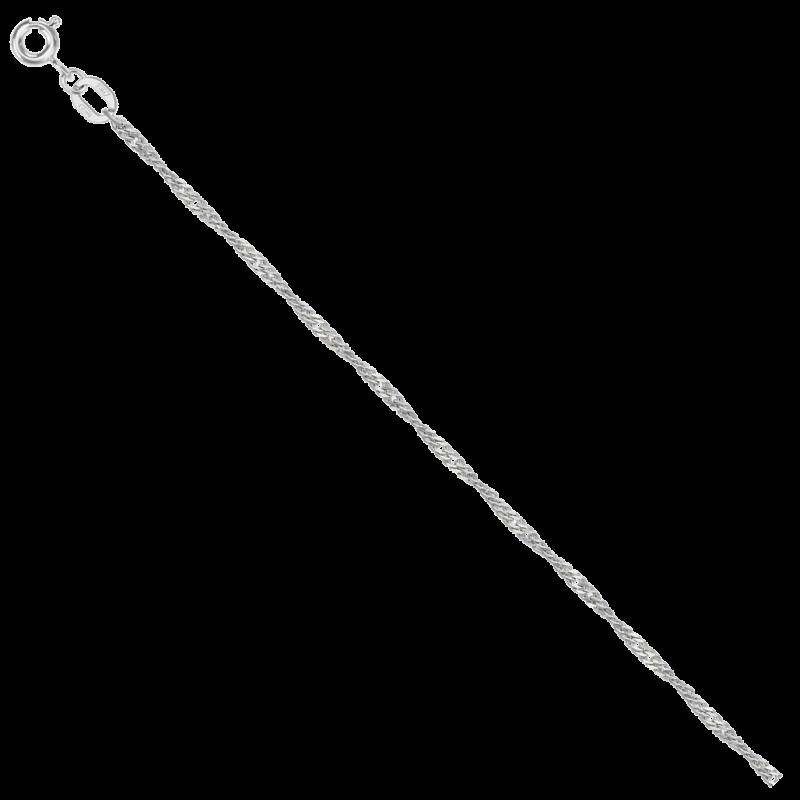 Цепь из серебра НЦ 22-028 с алмазной гранью КРАСЦВЕТМЕТ
