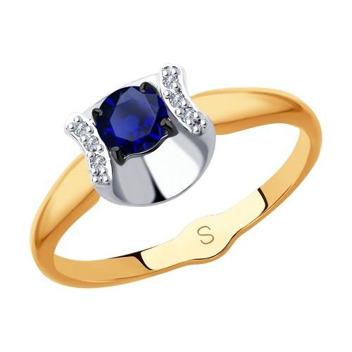 Кольцо 2011124 из золота с сапфиром SOKOLOV