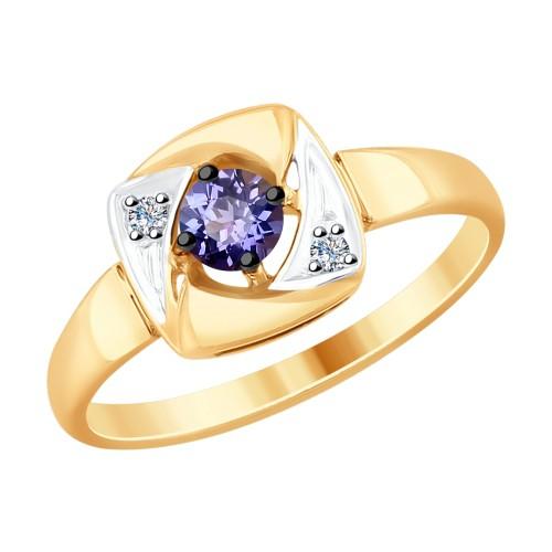 КОЛЬЦО 6014114 SOKOLOV с танзанитом и бриллиантами