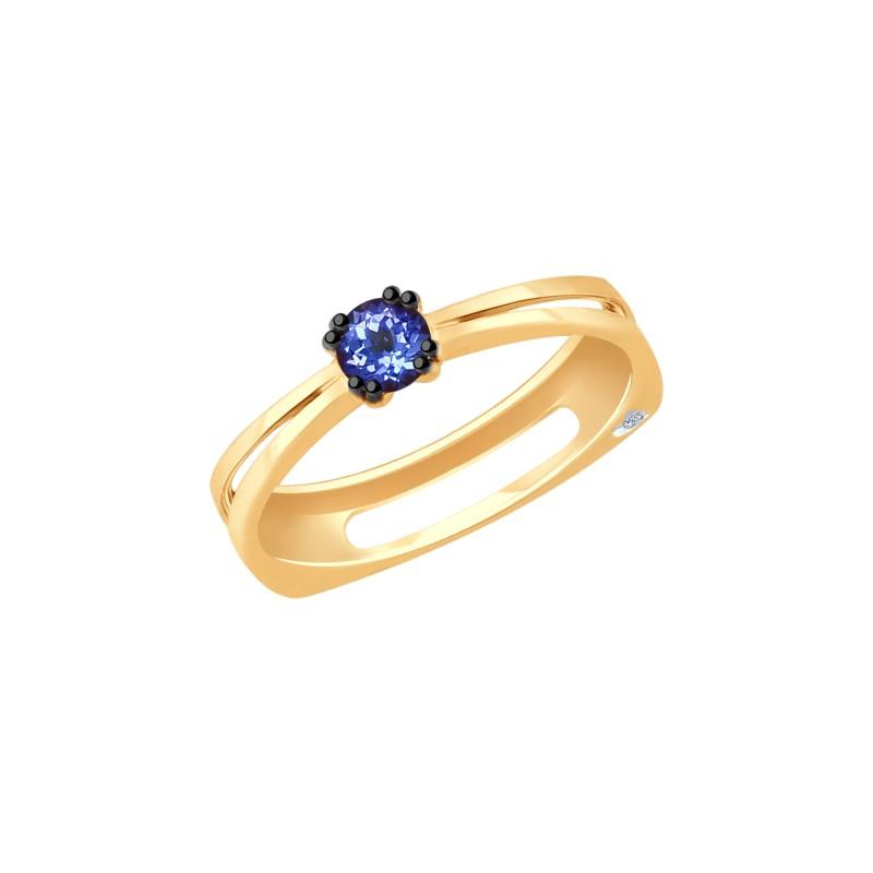 Кольцо 6014065 SOKOLOV из золота с танзанитом