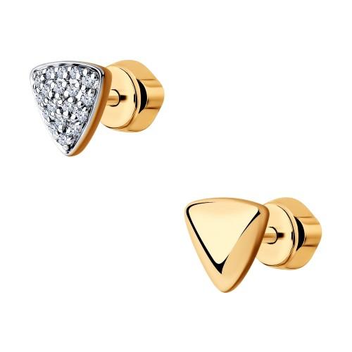 Серьги 1021431 пусеты SOKOLOV из золота с бриллиантами