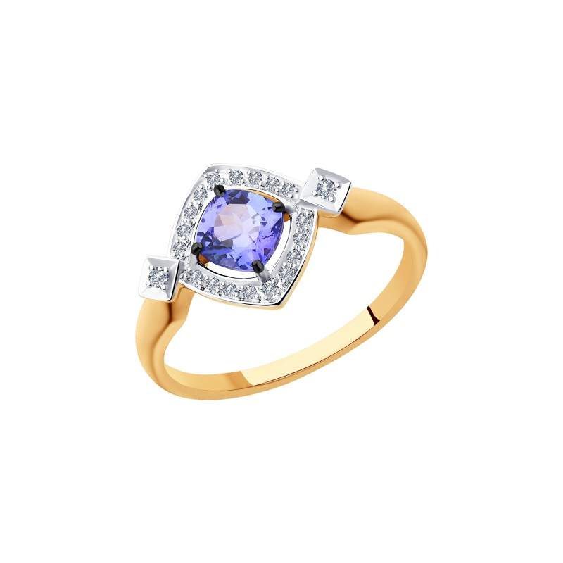Кольцо 6014116 SOKOLOV с танзанитом и бриллиантами