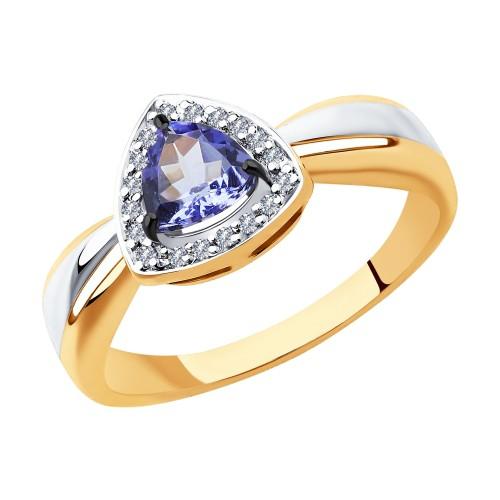 Кольцо 6014119 SOKOLOV с танзанитом и бриллиантами