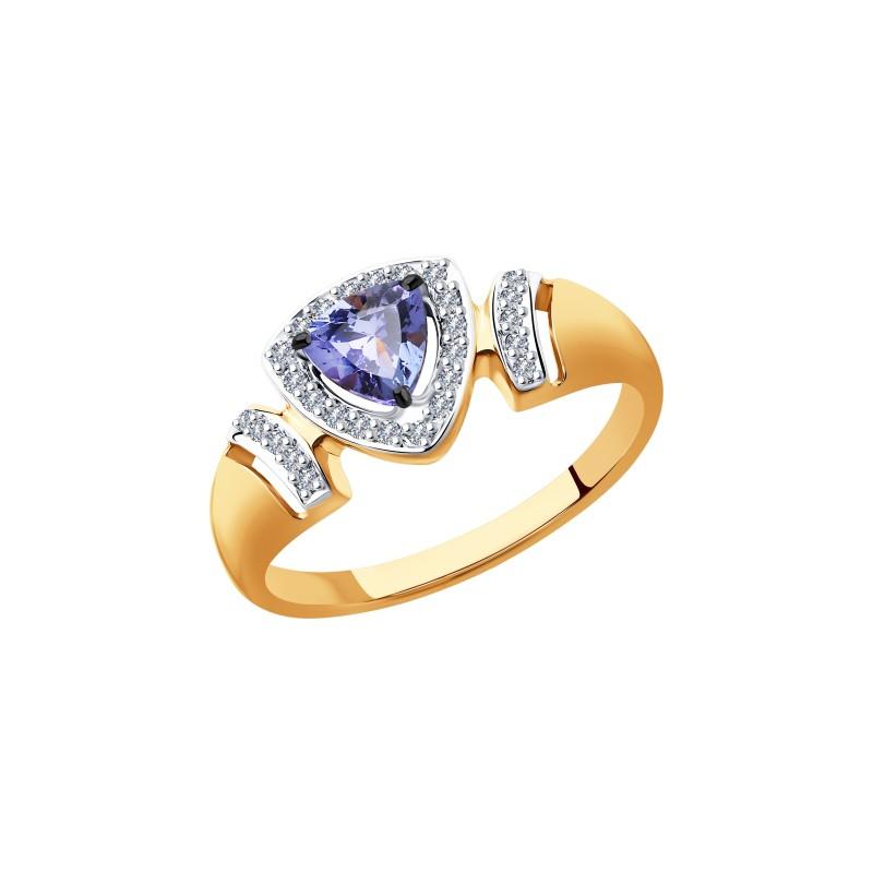 Кольцо 6014117 SOKOLOV с танзанитом и бриллиантами