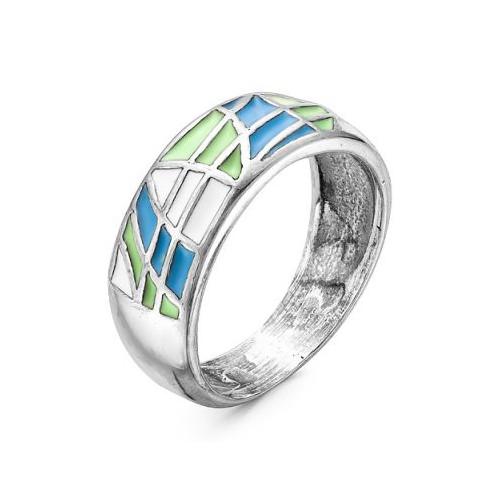 Кольцо из серебра с эмалью, КРАСНАЯ ПРЕСНЯ