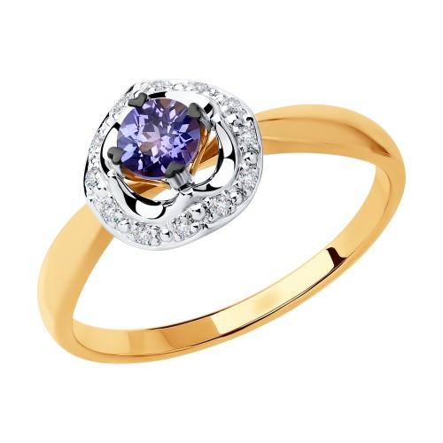 Кольцо 6014113 SOKOLOV с танзанитом и бриллиантами