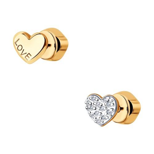 Серьги 1021470 пусеты SOKOLOV из золота с бриллиантами