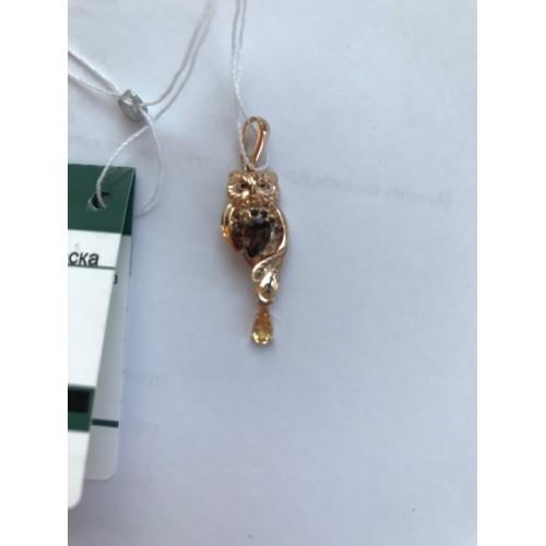 Подвеска из золота СОВА 03-2822-00-226-1110-57, завод Платина Кострома