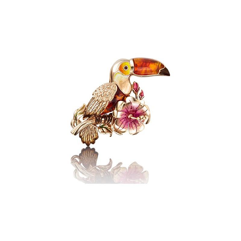 Брошь 04-0184-00-271-1110-58  из золота ПЛАТИНА КОСТРОМА