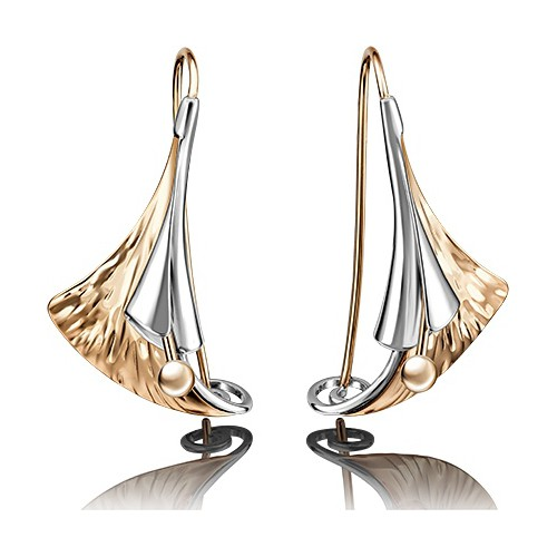 Серьги 02-4059-00-000-1111-48 из золота, ювелирный завод ПЛАТИНА