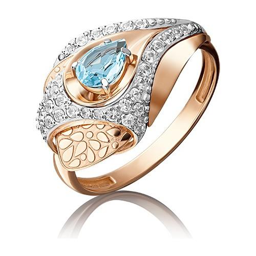 Кольцо 01-5167-00-201-1110-57 из золота с топазом, ювелирный завод ПЛАТИНА