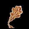 """Брошь """"Дубовый лист"""" из красного золота с цитрином ПЛАТИНА КОСТРОМА"""