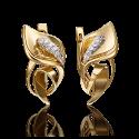 Серьги 02-4280-00-401-1130-23 из желтого золота с фианитами