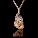 """Подвеска """"РЫБКА"""" 03-2900-00-000-1113-48 из золота с цветной эмалью, ювелирный завод ПЛАТИНА"""