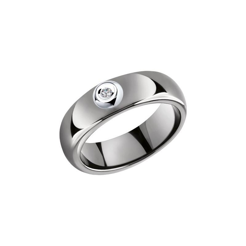 Кольцо 6015078 SOKOLOV из керамики с золотом и бриллиантом
