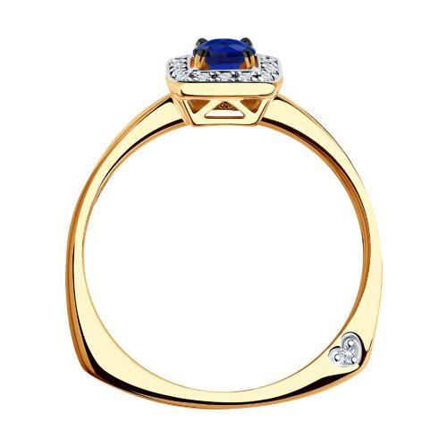 Кольцо 2011091 с сапфиром из золота от SOKOLOV