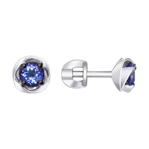 Серьги 6024103 SOKOLOV с танзанитом и бриллиантами