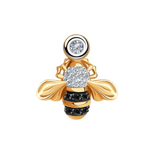 """Подвеска 7030005 """"Пчелка"""" из золота с бриллиантом SOKOLOV"""