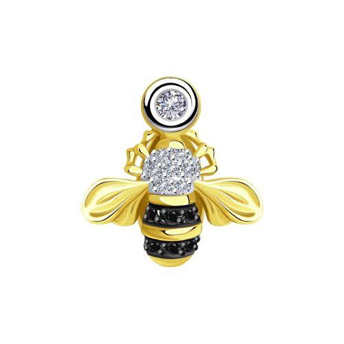 """Подвеска 7030005-2 """"Пчелка"""" из золота с бриллиантом SOKOLOV"""