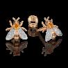 """Серьги """"Пчелы"""" из золота с цитрином и топазом ювелирный завод ПЛАТИНА"""