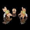 """Серьги """"Стрекоза"""" из золота  с хризолитом и эмалью, ювелирный завод ПЛАТИНА"""