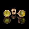 Серьги из золота  с хризолитом, ювелирный завод ПЛАТИНА