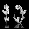 Серьги из серебра с сапфиром Платина Кострома