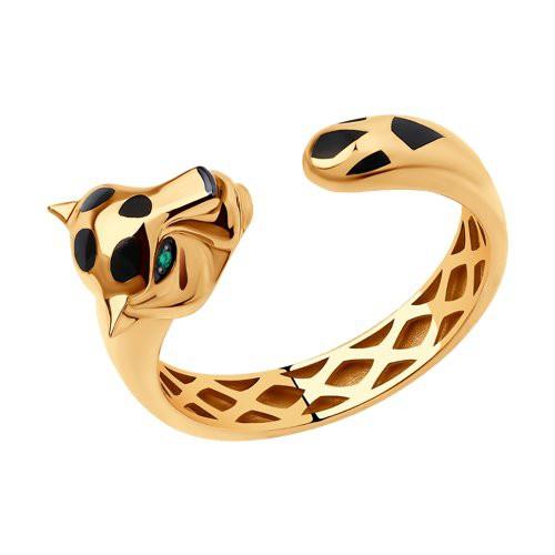Кольцо 3010579 SOKOLOV из золота с изумрудом