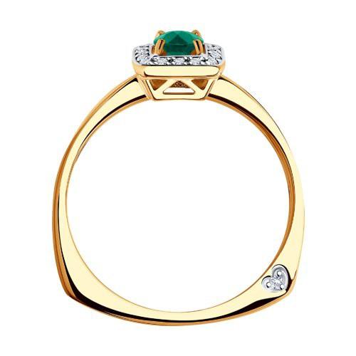 Кольцо 3010553 с изумрудом из золота от SOKOLOV