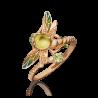 """Кольцо """"Стрекоза"""" из золота  с хризолитом и эмалью, ювелирный завод ПЛАТИНА"""