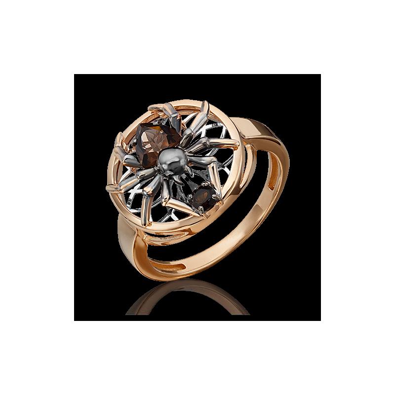 Кольцо из золота  с раухтопазом ювелирный завод ПЛАТИНА